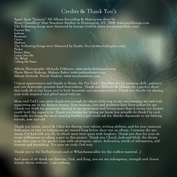 how to write thanks in credits